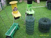 Gartenhäcksler Streuwagen Gartenzaun alles gebraucht