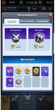 Clash Royal Account Level 13