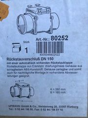 Rückstauventil DN 150 Rückschlagklappe DN