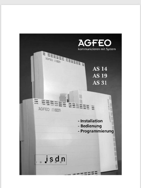 ISDN - Analoganlage Agfeo AS-14