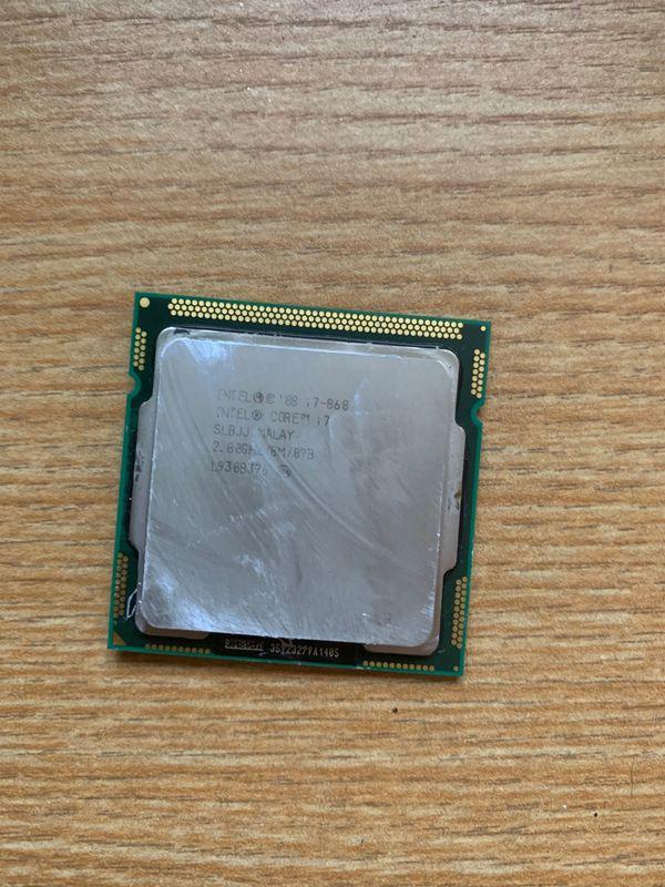 CPU Intel i7-860 2 8