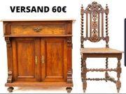 Gründerzeit Halbschrank um 1880 Nussbaum