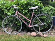 Damen Retro Sportrad Rennrad Pink
