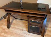 Verkaufe Schreibtisch mit Rollcontainer