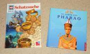 Auswahl Wissensbücher Schatzsuche und Pharao