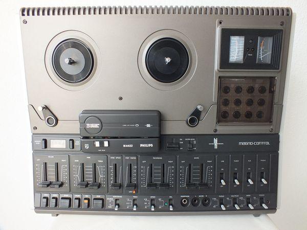 Philips Tonbandmaschine N4422 mit Abdeckhaube