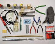 Tiffanyausrüstung Werkzeuge Materialien