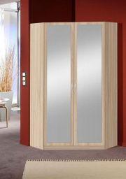 Kleiderschrank - Eckkleiderschrank in hellem Holz