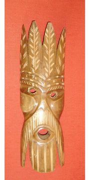 Wandmaske Indianer Holzmaske