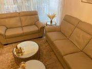 Sofa set hell grau braun