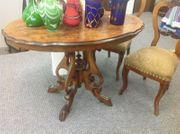 2 Stühle Tisch antik Top