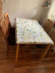 Esstisch mit 4 massiven Stühlen