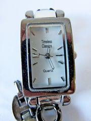 Damen-Edelstahl-Armbanduhr neu top ablesbar Gliederarmband
