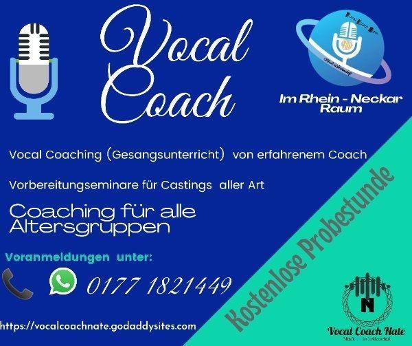 Gesangsunterricht Vocal Coach