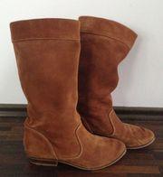 Cowboy Stiefel braun Wildleder 38