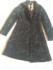 Desigual Brokat Mantel schwarz Gr
