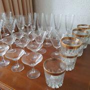 Bleikristall Gläser Konvolut