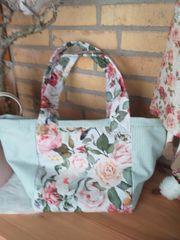 Rosen shopper Tasche Stofftasche Strandtasche