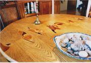 Esstisch rund ausziehbar Kunsthandwerk mit