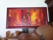 Bild Holzrahmen Motiv Buddha
