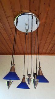 Blaue Deckenlampe Wohnzimmer- Schlafzimmerlampe