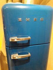 SMEG Kühlschrank Kühl- Gefrierkombi BLAU