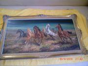 Ölgemälde Pferde v H Riedman