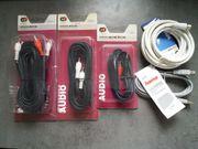 Kabelsammlung Chinch USB Stereo Satelit