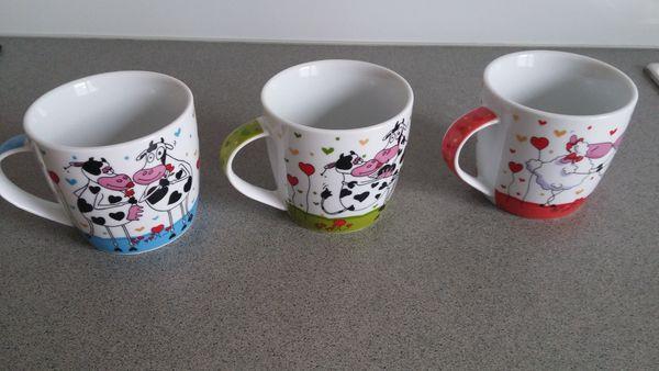 8 x Tasse Kaffeetassen Geschirr