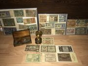 Sammlung Münzen Banknoten