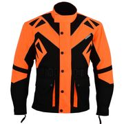 Textil Motorradjacke Schwarz Orange