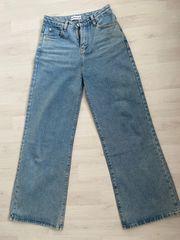 Jeans Hose Weitgeschnitten