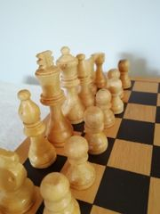 Massives Schach Brett Schachbrett Holzschach