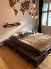 Palettenbett inkl Lattenrost - selfmade