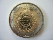 2 Euro Gedenkmünzen 10 Jahre
