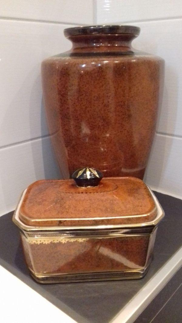 Chinesische Porzellan Vase mit Goldmalerei
