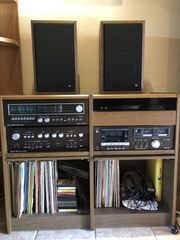 DUAL Musikanlage im Holz-Rack inkl