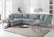 Sofa Ecksofa Couch hell Grau