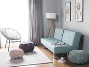 Schlafsofa Polsterbezug mintgrün 190 cm