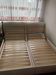 Doppelbett Lattenrost Bett weiss xxxl