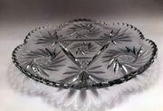 Glasschale - Bleikristall Dekor Schleuderstern