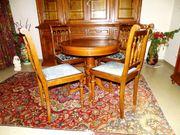 Herrenzimmer Sitzgruppe Rundtisch mit 4