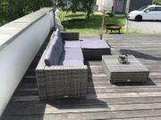 Gartenmöbel 14-tlg Poly Rattan Lounge