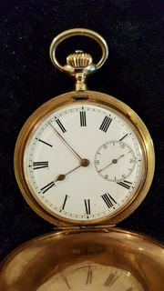 Goldene Taschenuhr IWC Savonette 1898