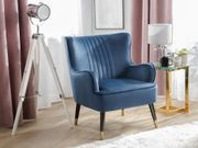 Sessel Samtstoff blau VARBERG neu -