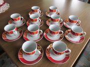 12 Kaffeetassen mit Unterteller