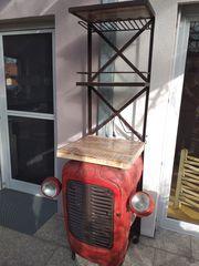 Traktorschrank Bar Werkstatt Deko Regal