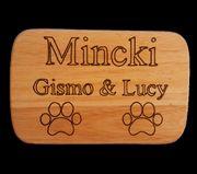 Ich biete personalisierte Holz Geschenke