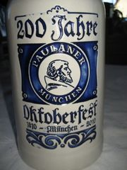 Bierkrug Maßkrug aus Ton Paulaner