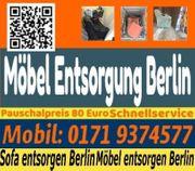 Möbel entsorgen Berlin Sofa Bett